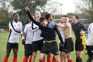 Kingston's mens first football team win the league