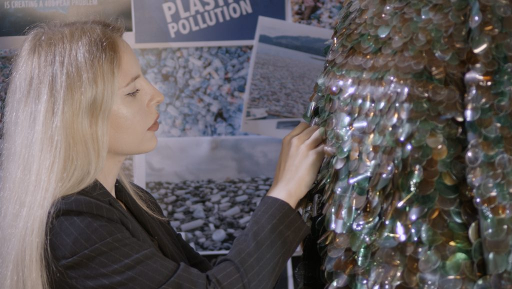 Kingston University student turns waste plastic into fashion