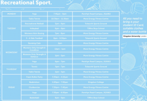 Kingston University Project Offers Free Sport for all Students