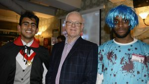 Biomedical and Save a Baby's Life societies collab in joint Halloween party for retiring lecturer