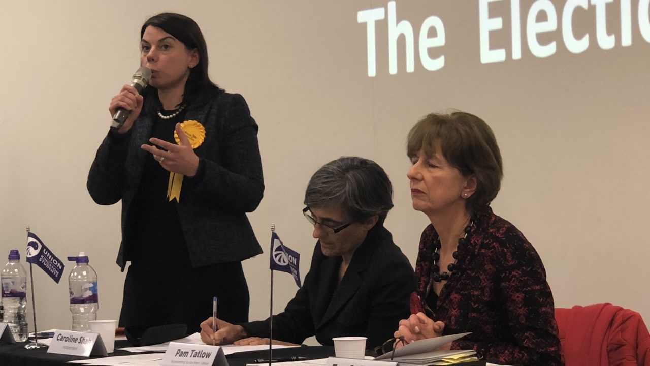 Politicians hold heated debate at Kingston Hill in frantic run-up to general election
