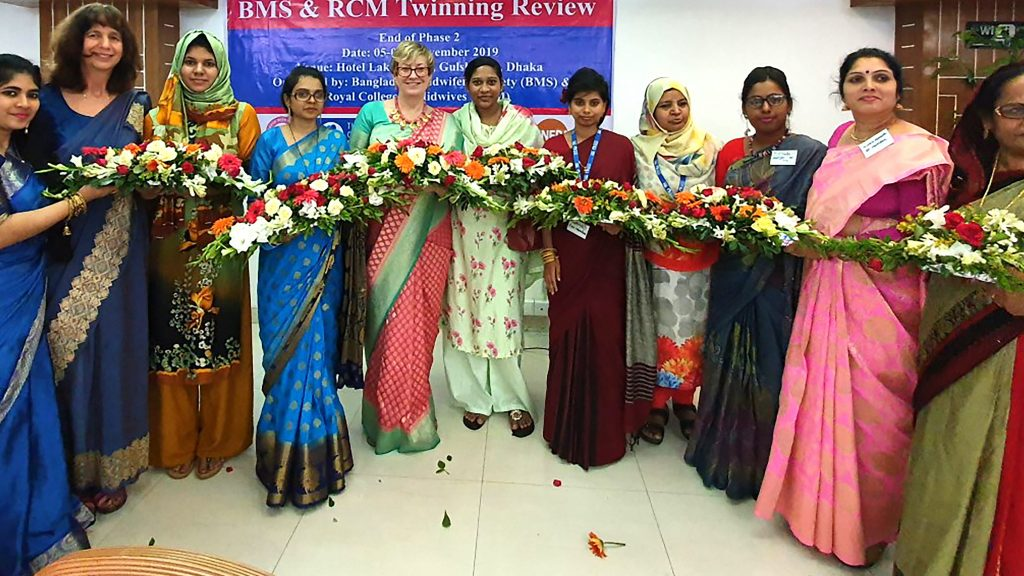 Kingston University professor works with Bangladeshi midwives to promote the role of the profession