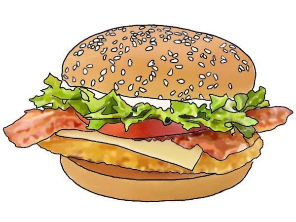 Illustration of a McDonald's McChicken BLT