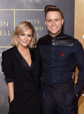 an image of Caroline Flack and Olly Murs at an award show