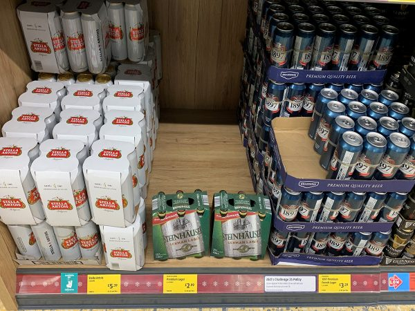 Beers are in high demand in Aldi
