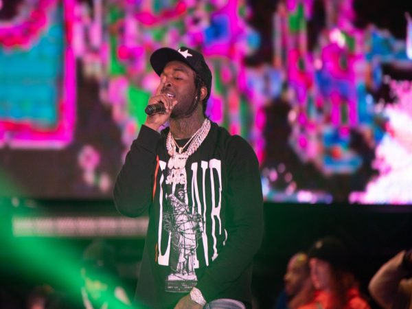 Pop Smoke performing at the Rolling Loud SOCAL