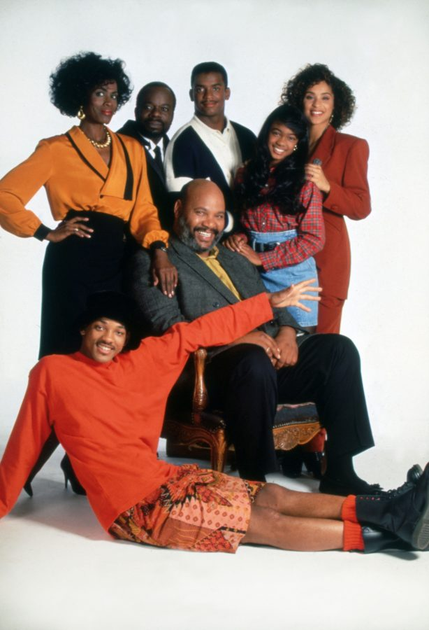 A still shot of the Fresh Prince cast.