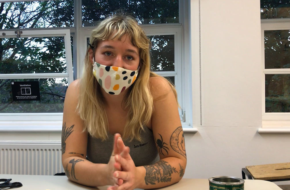 KU student puts creativity to good use making PPE for the NHS