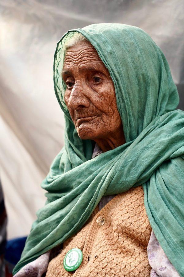 A protester in Delhi.
