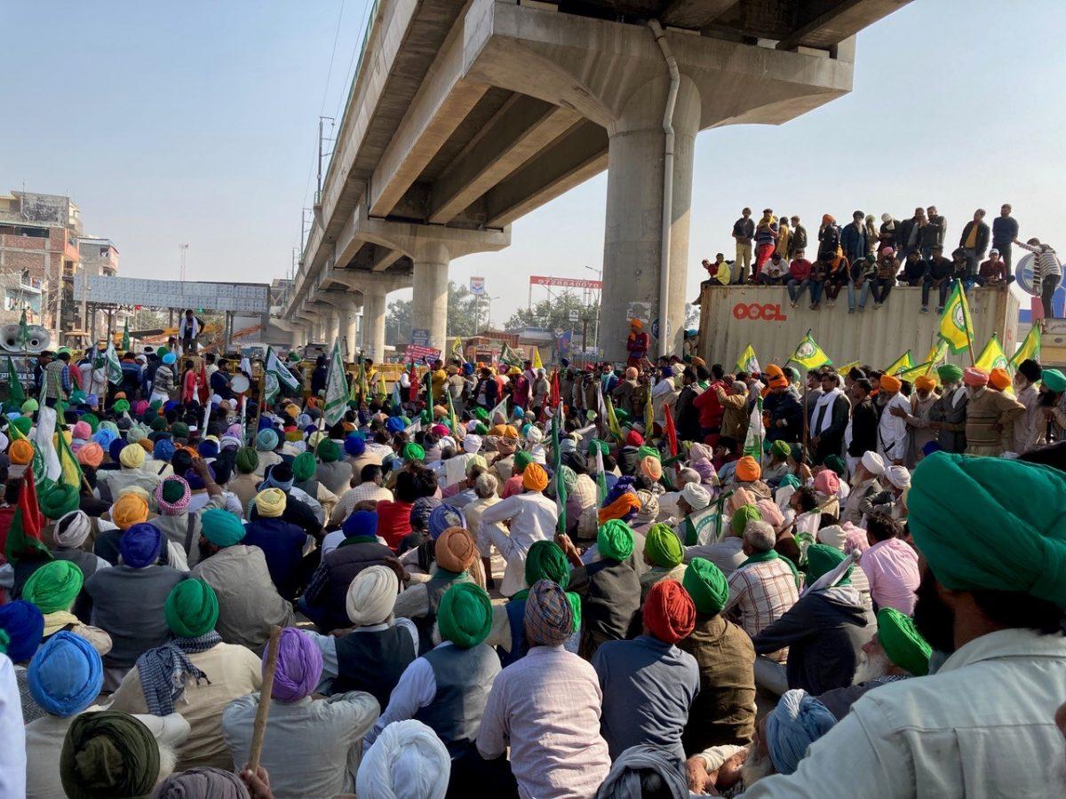 Peaceful protesters in Delhi.