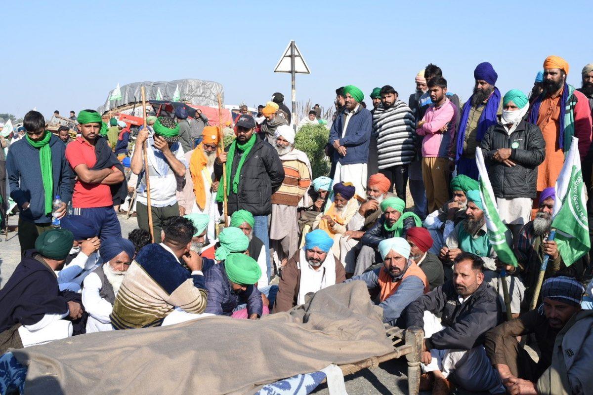 Protesters in Delhi.