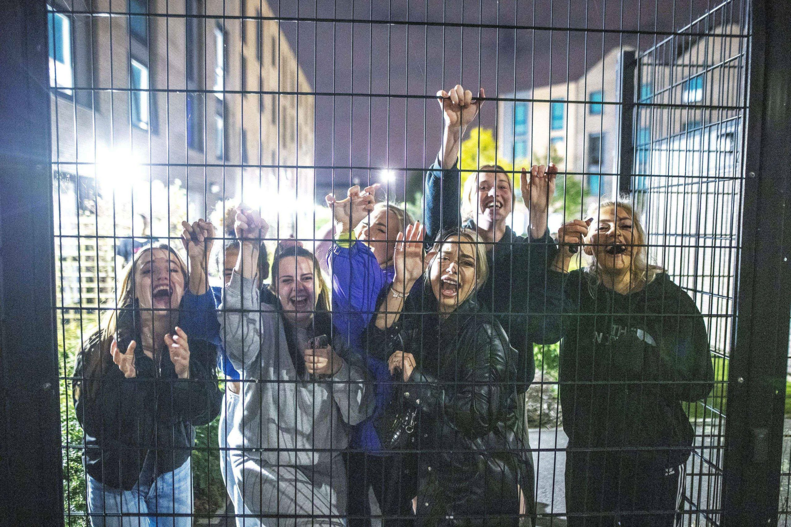 University students fenced in at university halls