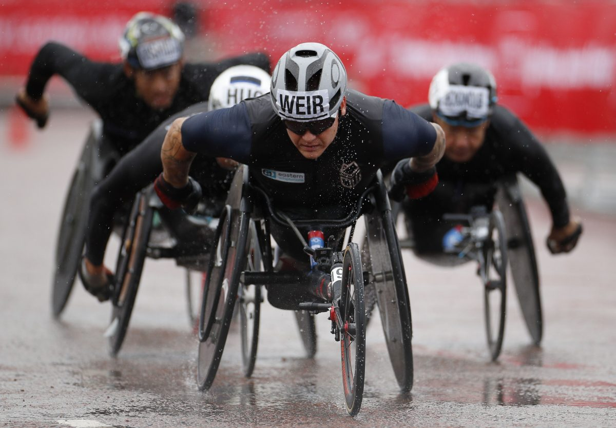 What does David Weir's denial of a blue tick show about the representation of para-athletes?