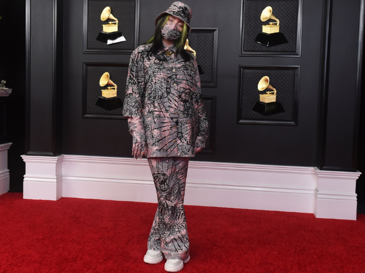 Billie Eilish arrives at the 63rd annual Grammy Awards at the Los Angeles Convention Center  14 Mar 2021