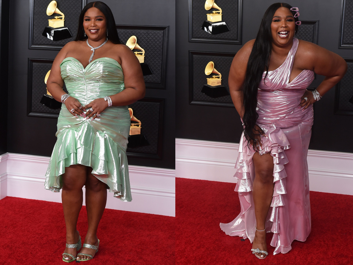 Lizzo arrives at the 63rd annual Grammy Awards at the Los Angeles Convention Center  14 Mar 2021