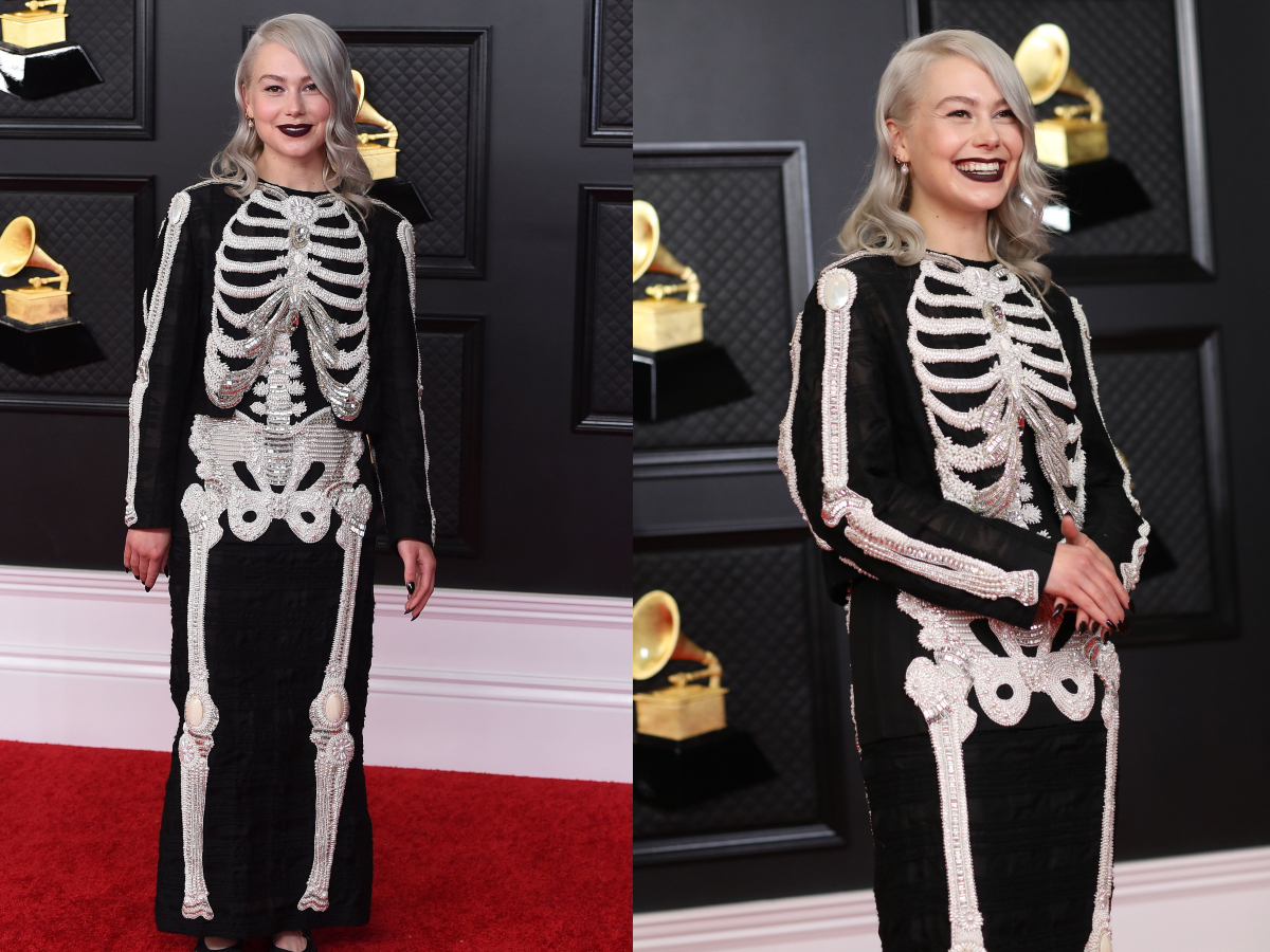 Phoebe Bridgers arrives at the 63rd annual Grammy Awards at the Los Angeles Convention Center