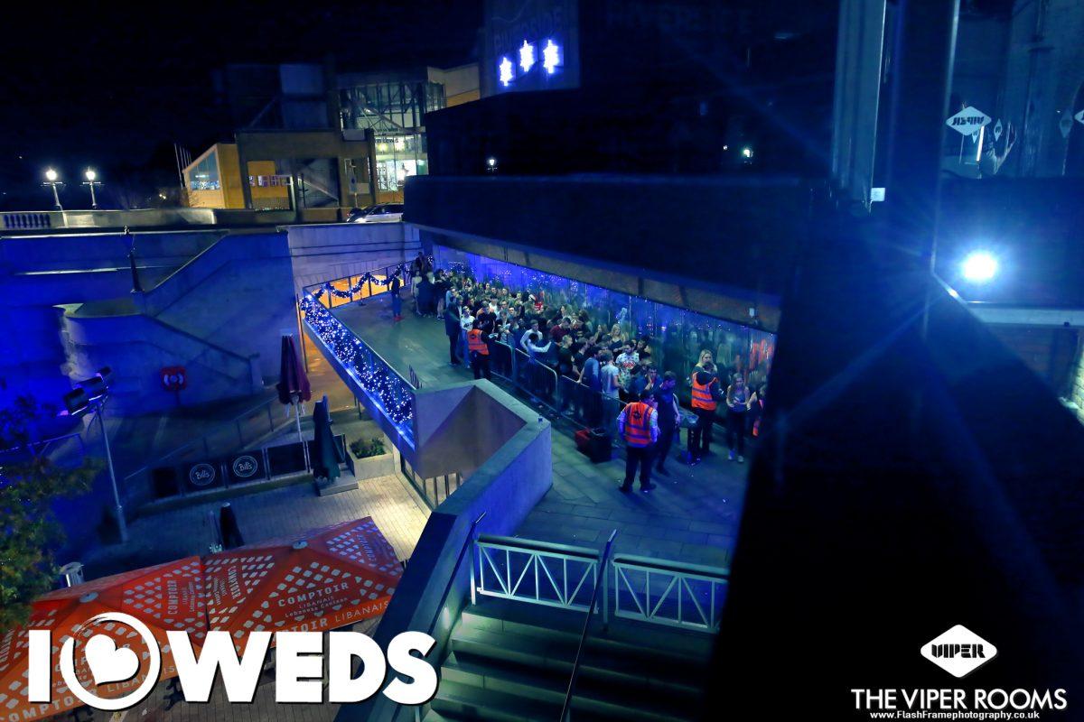 Queues for Viper nightclub