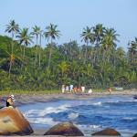 People walking along Tayrona Beach