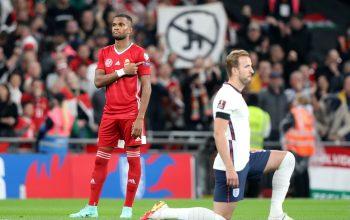 Kane taking the knee at Wembley.